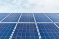 solar panel closeup with blue sky in cloudy - PhotoDune Item for Sale
