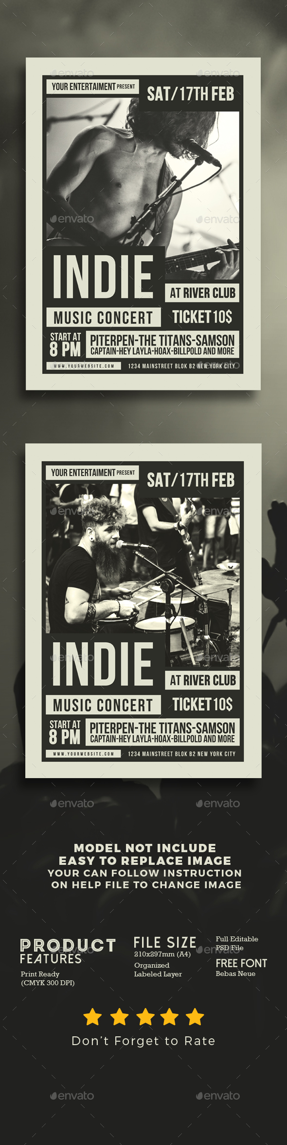 Indie Music Flyer - Events Flyers