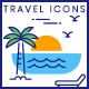 Travel Icons - GraphicRiver Item for Sale
