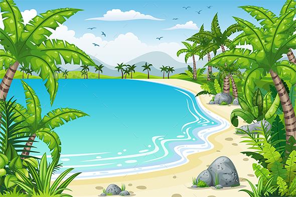 Tropical Coastal Landscape - Landscapes Nature