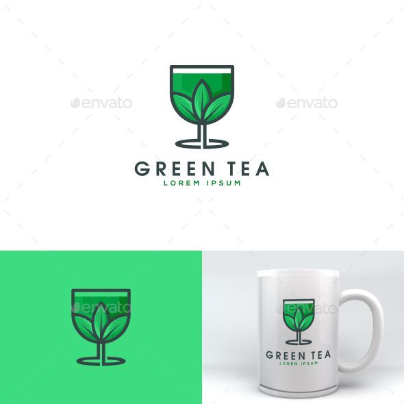 green tea logo template - Nature Logo Templates