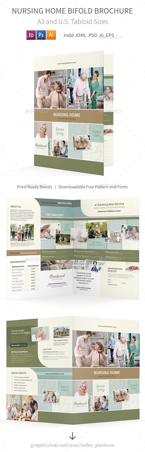 Nursing Home Bifold / Halffold Brochure 2 - Informational Brochures