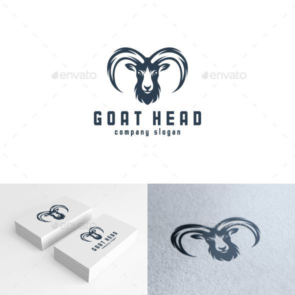 Goathead Logo Template - Animals Logo Templates