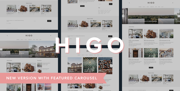 Higo - A Responsive WordPress Blog Theme
