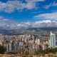 of Benidorm with High Buildings, Mountains and Sea - VideoHive Item for Sale