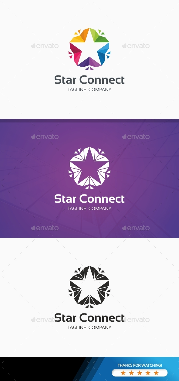 Star Connect Colorful Logo - Symbols Logo Templates