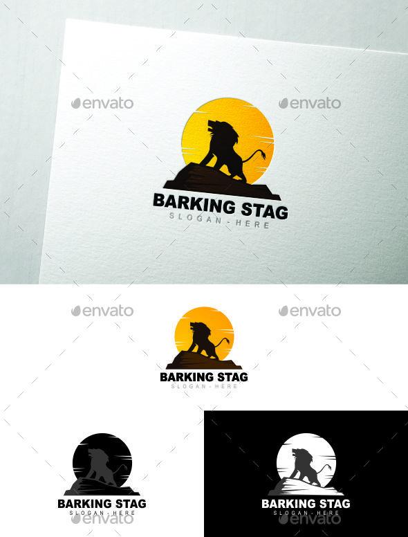 Lion Barking - Animals Logo Templates