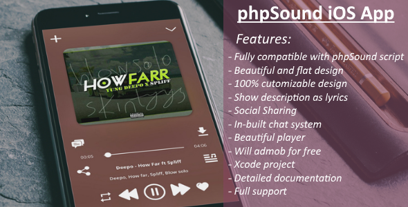 phpSound iOS App - CodeCanyon Item for Sale