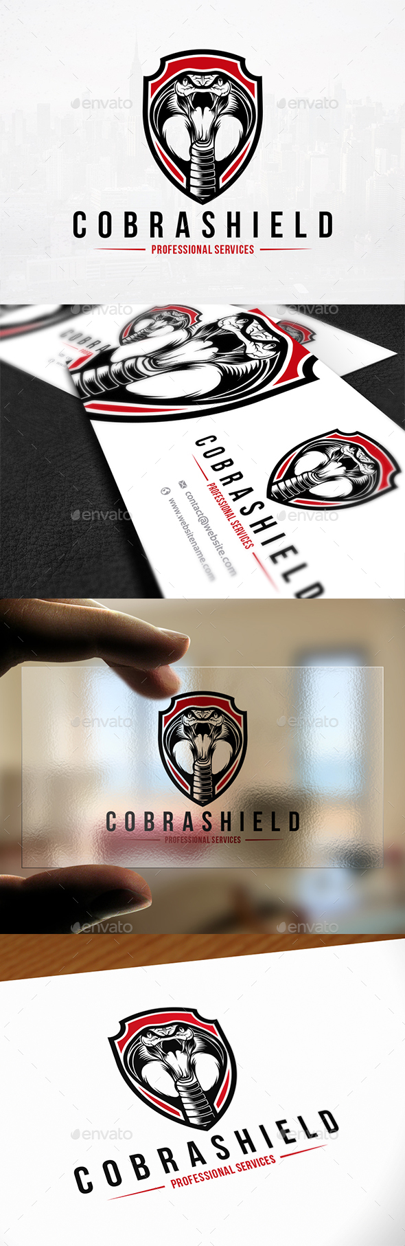 Cobra Shield Logo Template - Animals Logo Templates