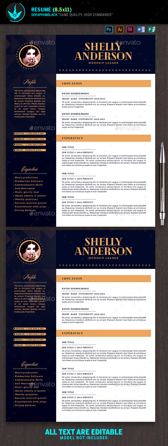 art deco resume template by seraphimblack