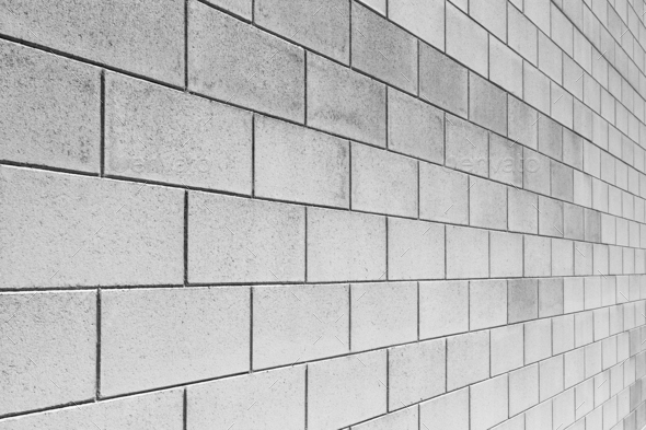 Angle Of White Brick Wall Stock Photo Images
