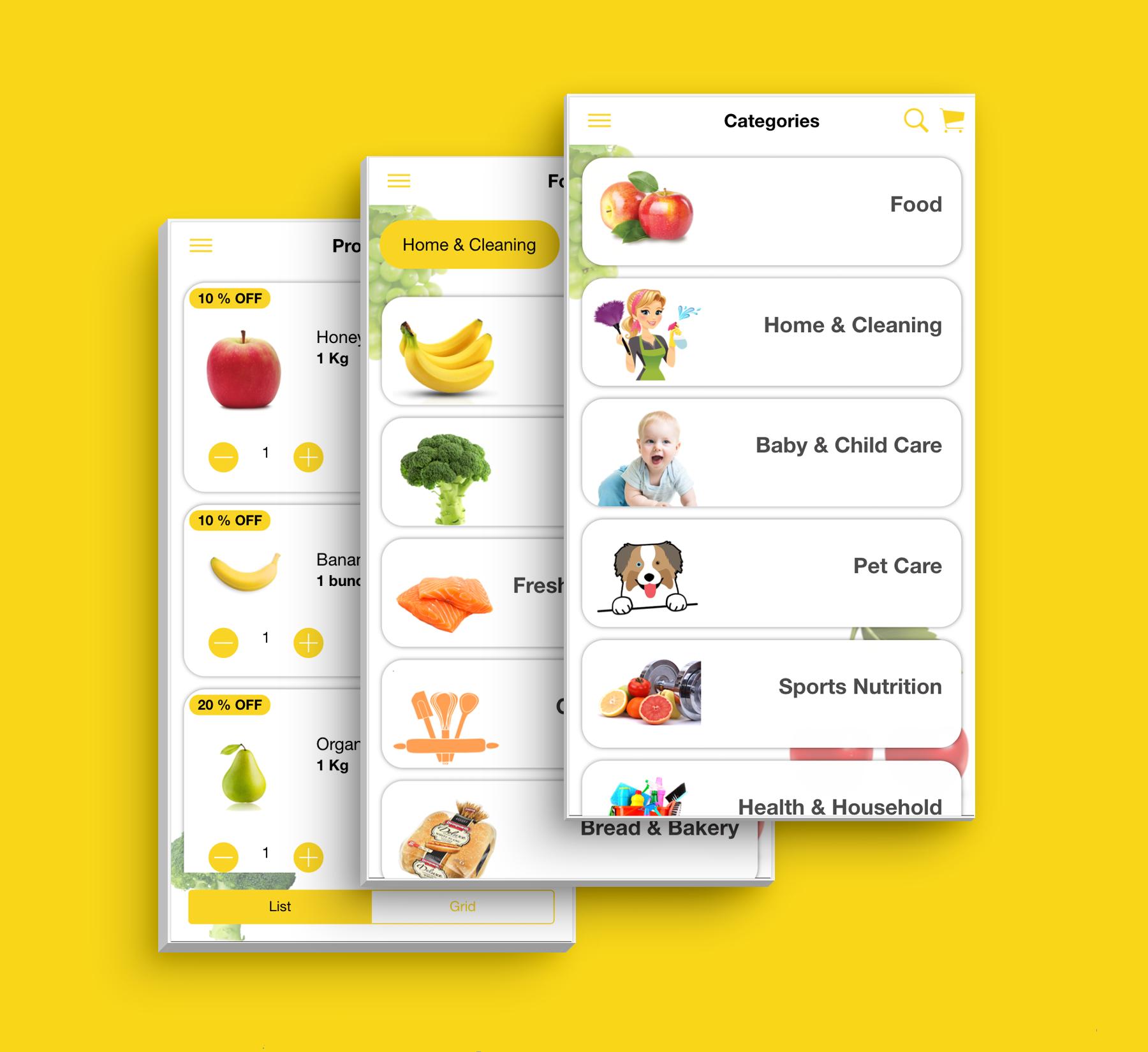 Aplicativo de supermercado de interface do usuário de modelo de comércio eletrônico multifuncional completo compatível com vários idiomas i18n - 5