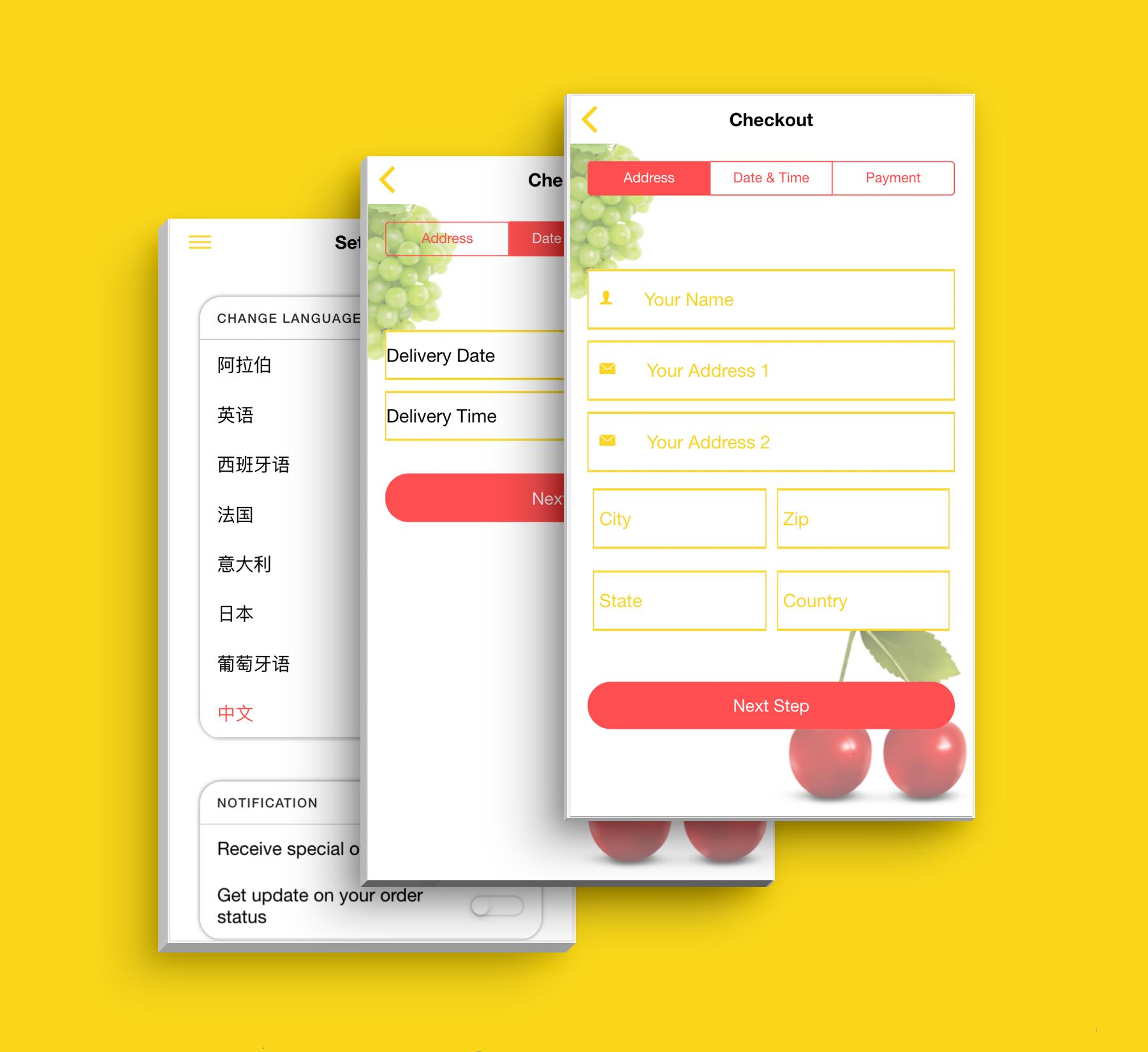 Aplicativo de supermercado de interface do usuário de modelo de comércio eletrônico multifuncional completo compatível com vários idiomas i18n - 6