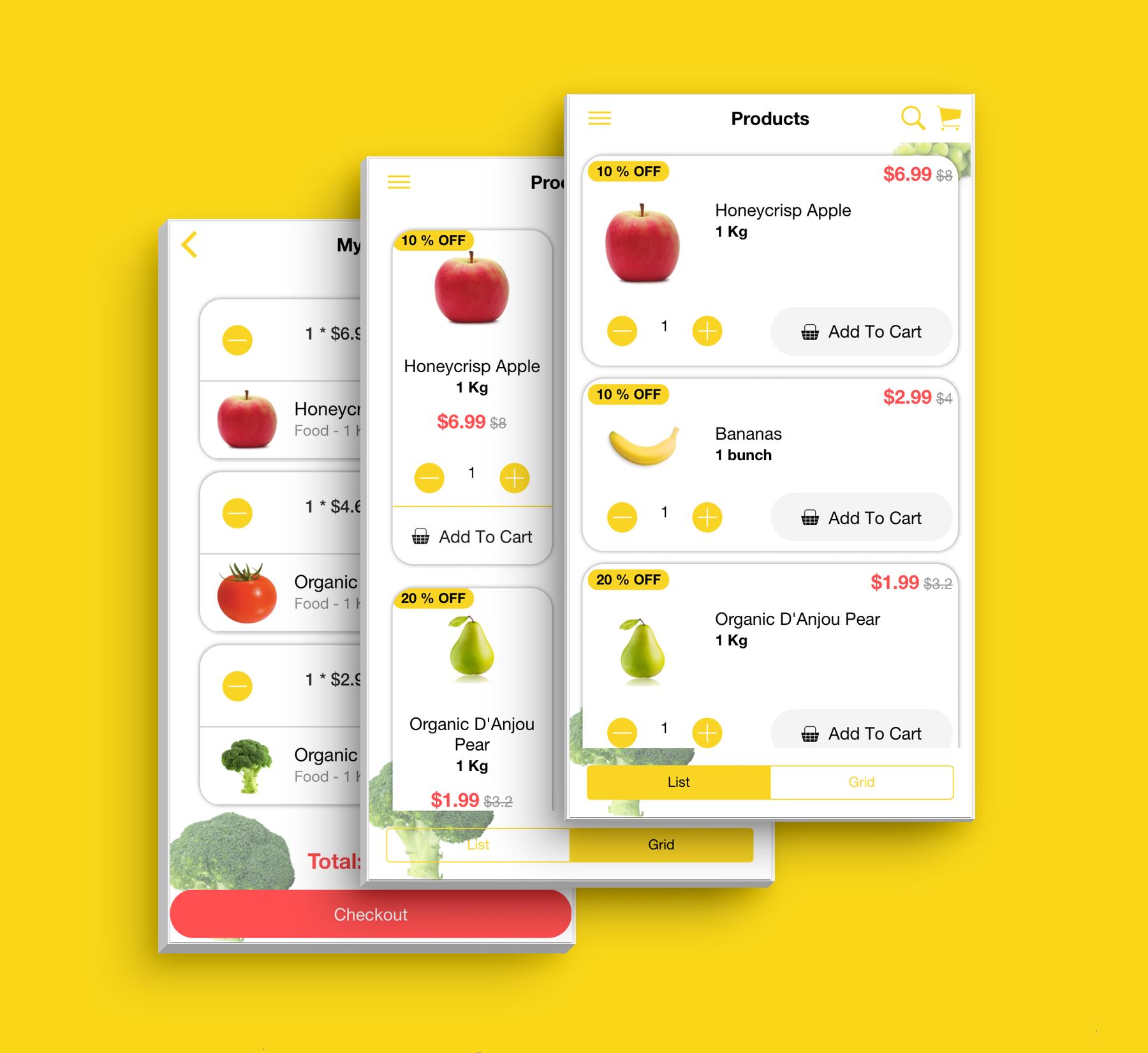 Aplicativo de supermercado de interface do usuário de modelo de comércio eletrônico multifuncional completo compatível com vários idiomas i18n - 9