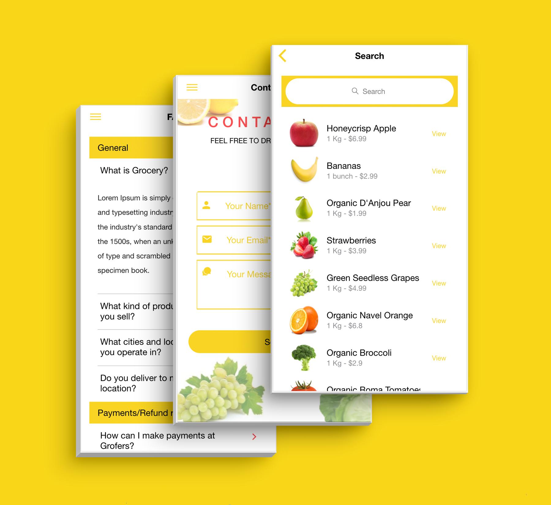 Aplicativo de supermercado de interface do usuário de modelo de comércio eletrônico multifuncional completo compatível com vários idiomas i18n - 11