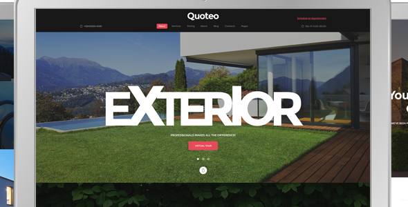 Quoteo - Exterior And Landscape Design Responsive Template