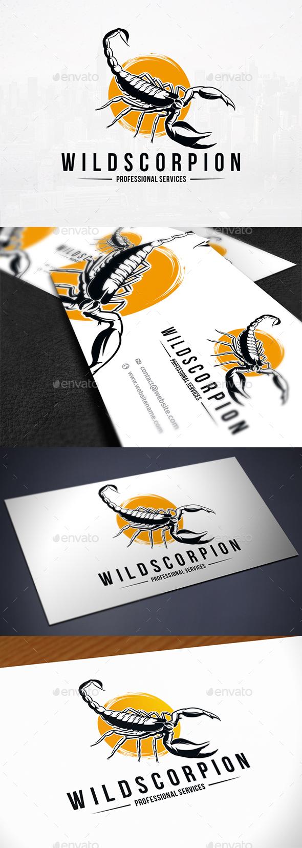 Wild Scorpion Logo Template - Animals Logo Templates