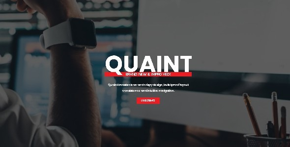 Quaint - Flexible Multipage HTML Responsive Template