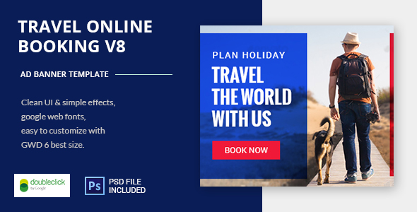 Online Travel Booking AD Banner 08 - CodeCanyon Item for Sale