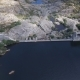 Flying Over Collapsed Dam - VideoHive Item for Sale
