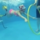 Girl Swims Under Water Ring - VideoHive Item for Sale