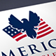 Patriotic Eagle Flag Logo