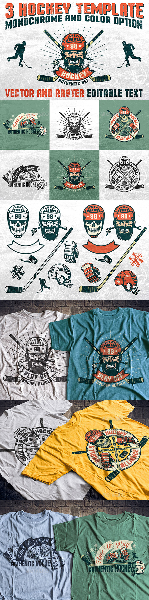 Authentic Hockey Set - Decorative Symbols Decorative