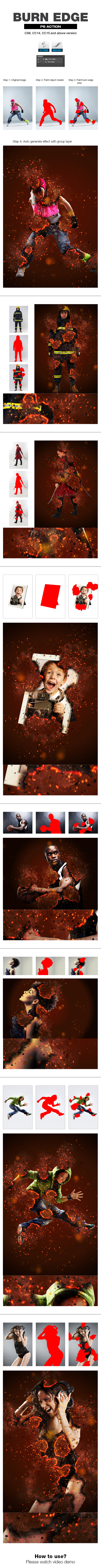Burn Edge - Photo Effects Actions