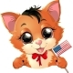 Presidents Day Kitten - GraphicRiver Item for Sale