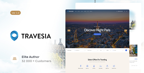 Travesia | A Travel Agency WordPress Theme - Travel Retail