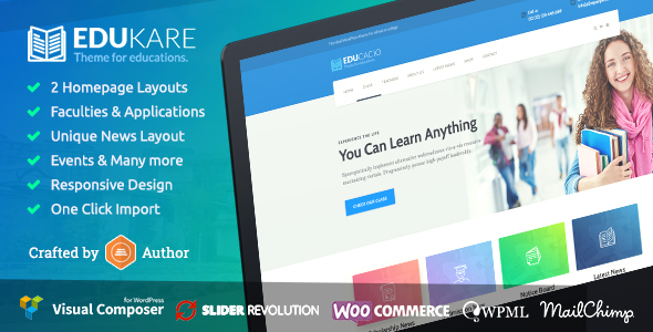 Edukare - Education WordPress Theme - Education WordPress