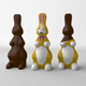 Chocolate Easter Bunny - 3DOcean Item for Sale
