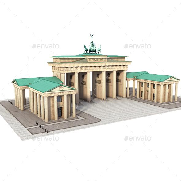 Brandenburg Gate, Berlin - Architecture 3D Renders