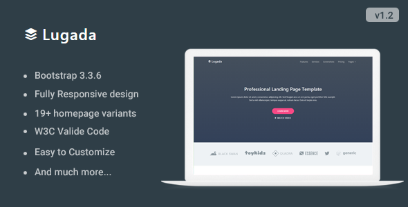 Lugada - Responsive Landing Page Template - Landing Pages Marketing
