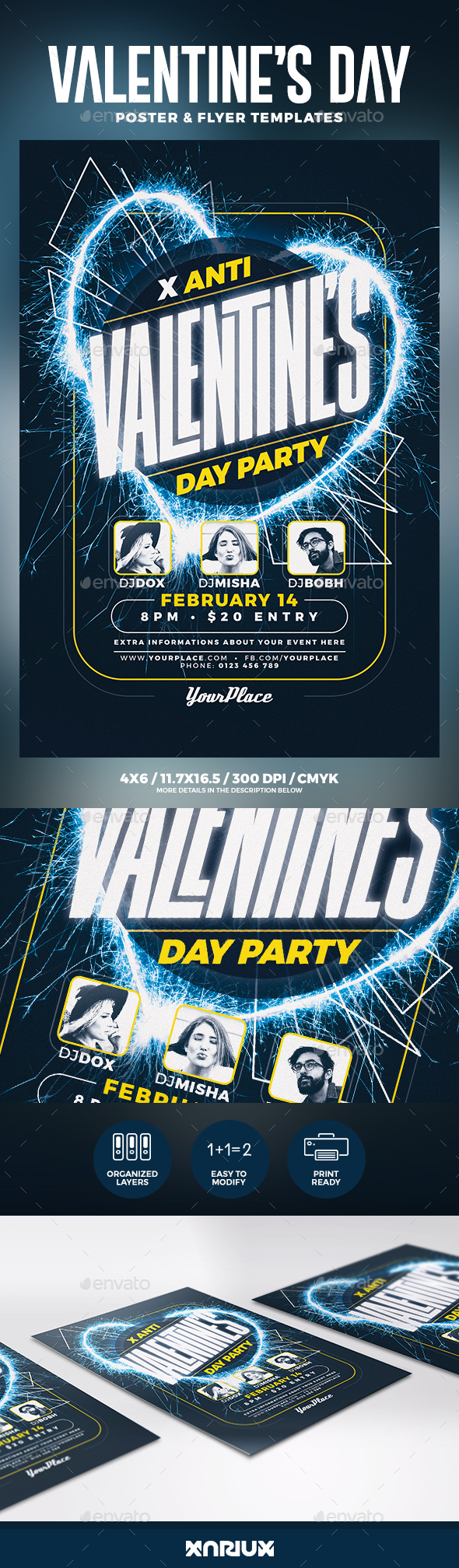 Anti Valentine's Day Flyer & Poster - Clubs & Parties Events