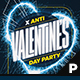 Anti Valentine's Day Flyer & Poster - GraphicRiver Item for Sale
