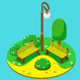 Isometric Park - GraphicRiver Item for Sale
