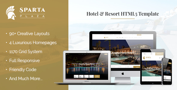 Image of Sparta | Hotel & Resort HTML5 Template