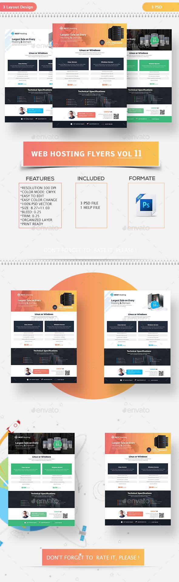 Web Hosting Flyers Vol-11 - Flyers Print Templates