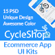 CycleShop - Ecommerce App Psd UI Kits - GraphicRiver Item for Sale