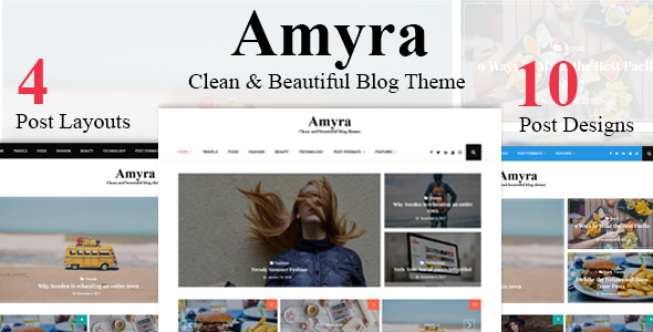 Amyra - Clean WordPress Blog Theme