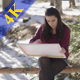 Beautiful Girl is Painting in the Woods - VideoHive Item for Sale