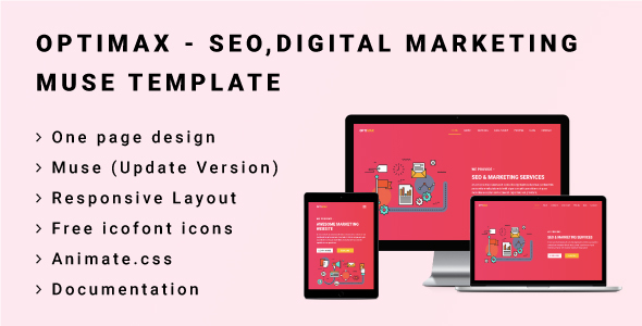 OPTIMAX - Seo,Digital Marketing Muse Template