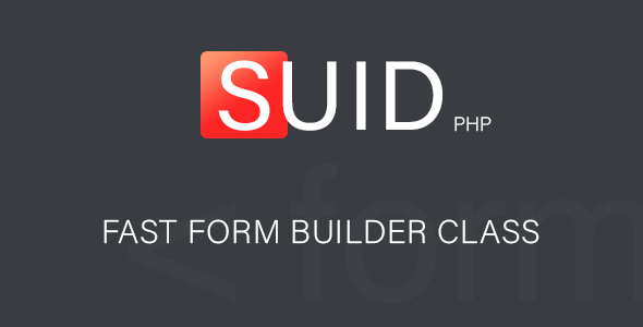 ​ Suid - Fast Form Builder - CodeCanyon Item for Sale
