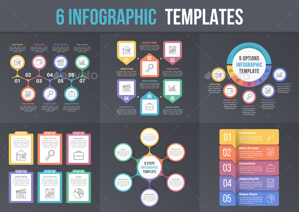 6 Infographic Templates - Infographics