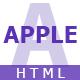 APPLE - HTML App Landing Page