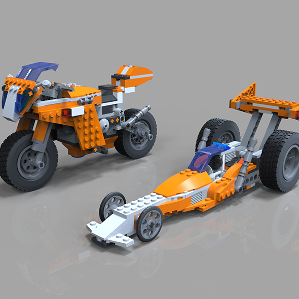 Lego Moto Bike model - 3DOcean Item for Sale
