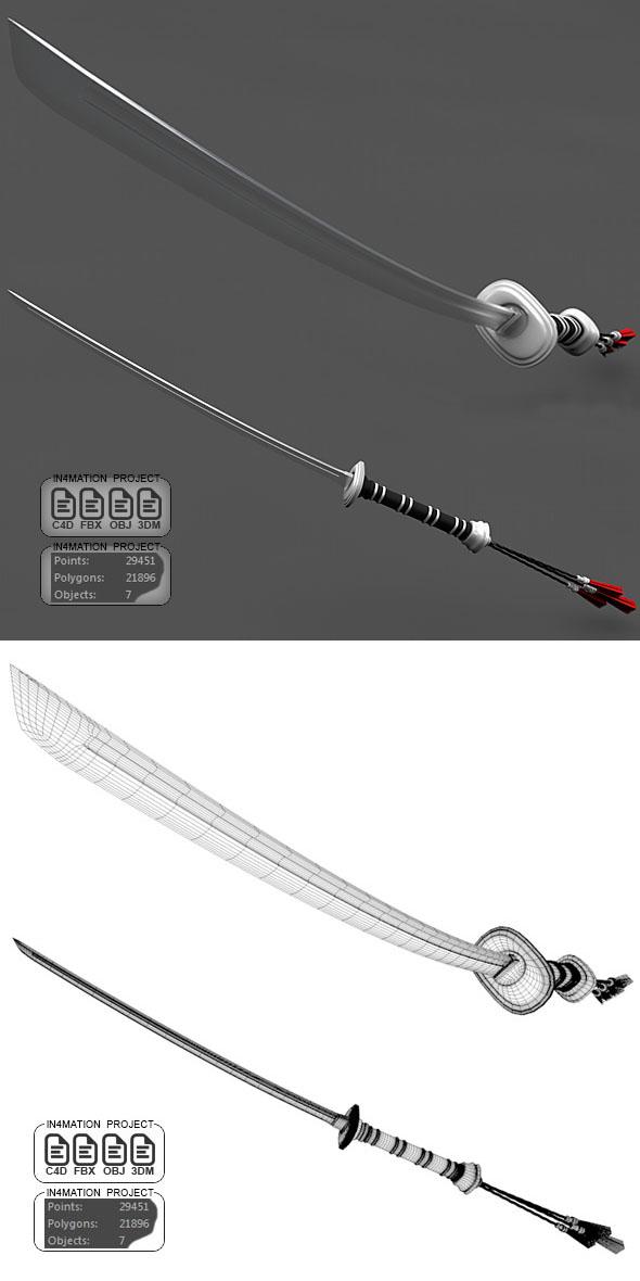 Ninja Sword - 3DOcean Item for Sale