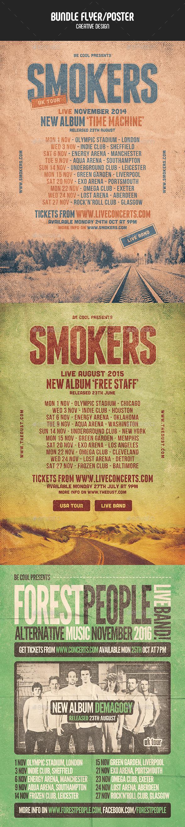 Flyer/Poster - Bundle - Concerts Events