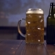 Bottle and Glass with Beer on Wooden Table - VideoHive Item for Sale